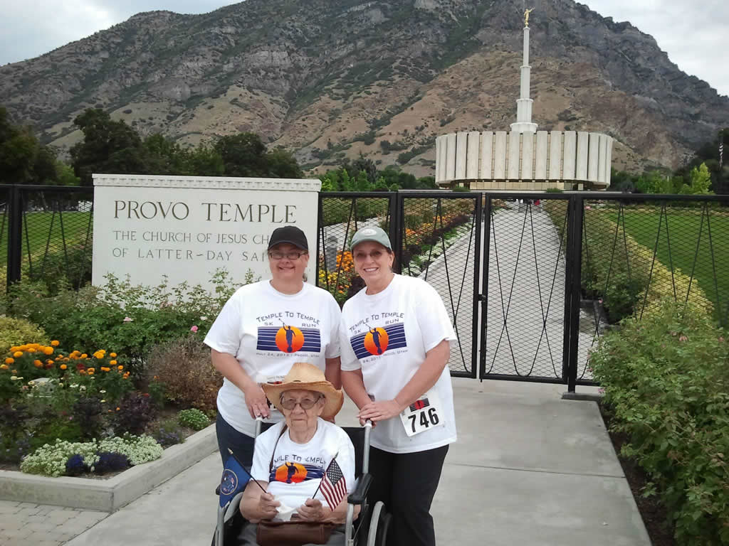 Provo Temple To Temple K Run Walk On Pioneer Day - Lds temples in the us map